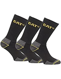 Black//Grey//Yellow New Boys Black Cat Socks Workman Style With Branding To Ankle
