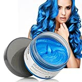 Blue Hair Wax 2018 Latest DIY Temporary Colour Hair Styling Wax Clay For