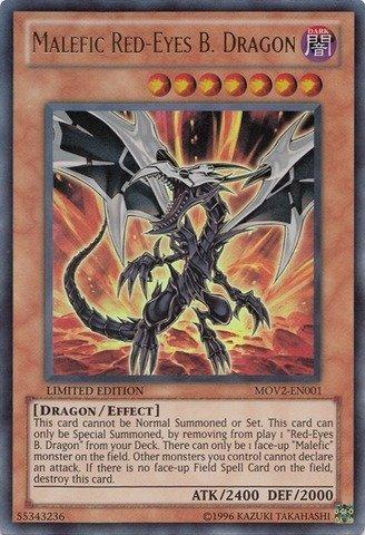 Yu-Gi-Oh! - Malefic Red-Eyes B. Dragon (MOV2-EN001) - Yu-Gi-Oh! 10th Anniversary Movie Promo - Limited Edition - Ultra Rare by Yu-Gi-Oh!