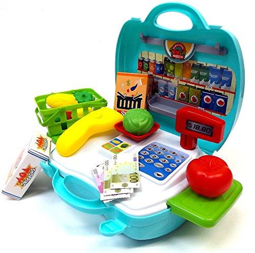 Brigamo 560 - Spielzeug Bio Kaufladen to go im Koffer thumbnail