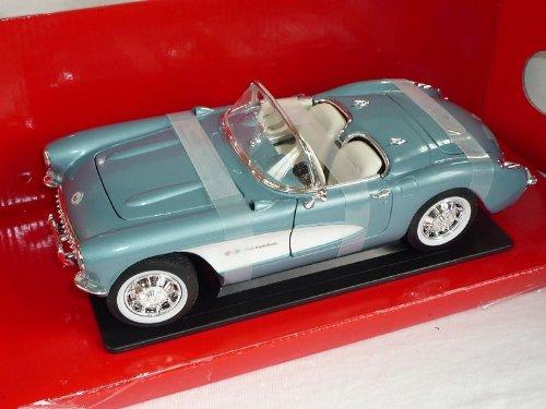 Chevrolet Chevy Corvette C1 1957 Cabrio Grau Oldtimer 1/18 Yatming Modellauto Modell Auto