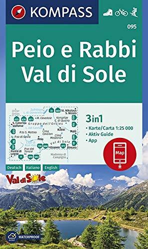 Carta escursionistica n. 95. Peio e Rabbi, Val di Sole 1:25.000