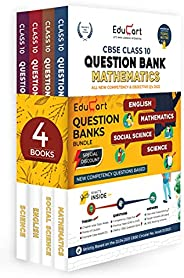 Educart Question Bank Class 10 of CBSE Maths, Science, SST & English (All in one Combo) for