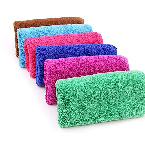 EudoER 8 Stück Waschhandschuh Seiftuch Seiflappen Waschfleck Mikrofaser Waschlappen