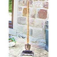 Long Handled Garden Shovel Boot Brush - Cast Iron and Wooden Doorway Accessory -