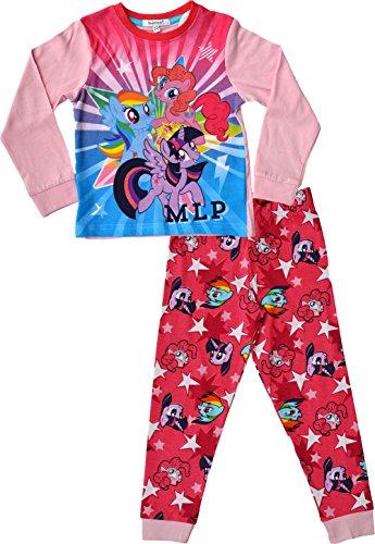 Kostüm Kinder Fluttershy - laylawson Mein Kleines Pony von Mädchen Lange Ärmel 100% Baumwolle Super Weich Offiziell | Alter von 3 bis 10 Jahren[4-5 Jahre][Rosa]
