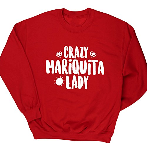 hippowarehouse-crazy-mariquita-lady-jersey-sudadera-sueter-derportiva-unisex
