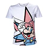Cheapest NINTENDO Super Mario Bros Mario Star Men's T-Shirt (Large, White) on Clothing