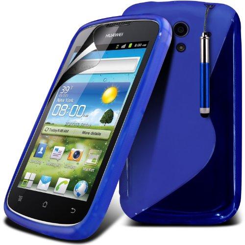 (Blue) copertura della cassa Hydro Wave Design Gel Huawei Ascend