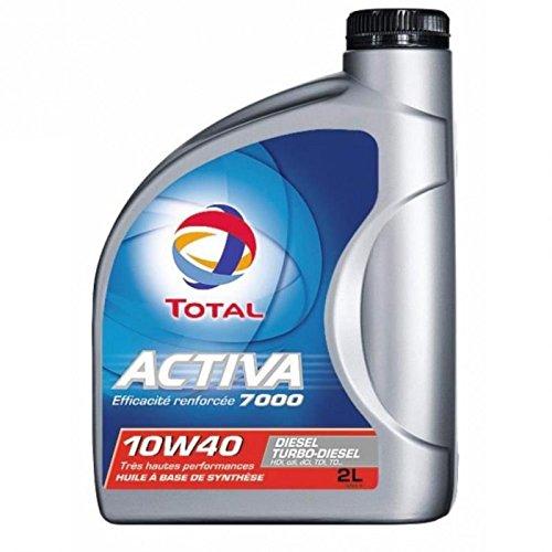 TOTAL 157127B Activa D7000 10W40, 2 L pas cher