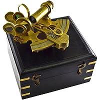 The New Antique Store - Sestante nautico in scatola in legno, strumento per navigazione marittima