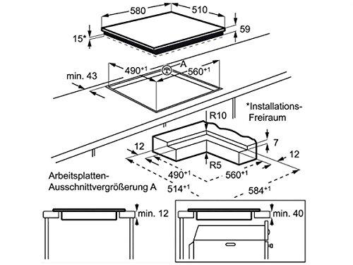 AEG HK654403I-B Induktion Glaskeramik Kochfeld Kochzone rahmenlos Touch Auflage - 2