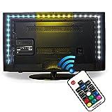 Illuminazione Bias per TV HD (78.7in / 2m) con telecomando - EveShine multicolore RGB TV LED Retroilluminato con Kit di Illuminazione a Fasce per TV LCD a Schermo Piatto, Desktop Monitor - adatto a qualsiasi dimensione TV fino a 60