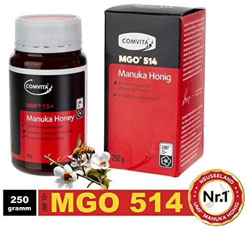 Comvita - Premium Manuka Honig MGO 514+ / UMF15+ - DAS ORIGINAL von der Nr.1 UMF Manuka Honigmarke aus Neuseeland ( in 2018 ) 250g (Manuka-honig Umf 20)