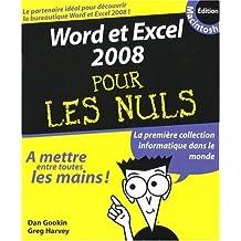 Word et Excel 2008 pour les Nuls : Edition Macintosh