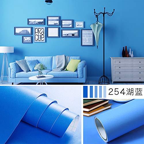 Einfarbig dicke tapete schlafzimmer aufkleber dekoration hintergrund wand papier wasserdicht aufkleber einfarbig 254 see blau -