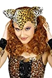 Karneval Klamotten Kostüm Perücke Leopard mit Ohren Zubehör Fasching Karneval