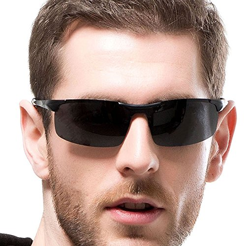 INFLATION Men's Driving Polarised Sunglasses Superlight Sports Eyewear for Running Cycling Fishing Golf UV400 Protection Goggles