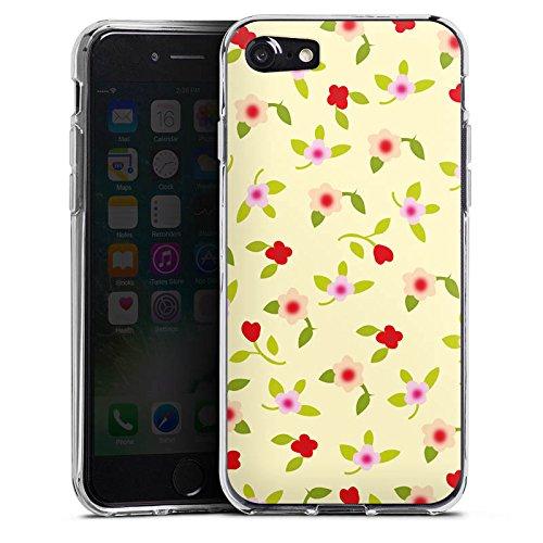 Apple iPhone X Silikon Hülle Case Schutzhülle Blumen Muster Herz Silikon Case transparent