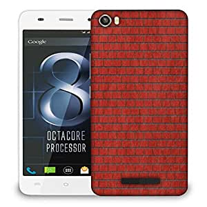Snoogg Red Bricks Designer Protective Phone Back Case Cover For Lava Iris X8