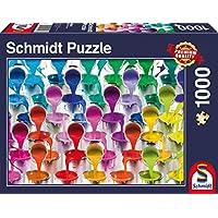 Schmidt Spiele Puzzle per Adulto: Cascata di Vasetti di Vernice, 1000 Pezzi