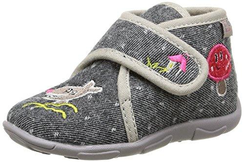 GBB Lakisha, Chaussures Premiers pas bébé fille Gris (Ttx Noir/Rouge Dtx/Amis)