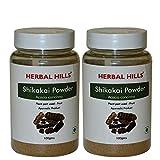 Herbal Hills Shikakai Powder - 100g Each Bottle (Pack of 2)
