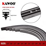 "RAISSER® KAWOO 1pcs Car Wiper Blade Strips Vehicle Insert Rubber Strip 14"" 16"" 17"" 18"" 19"" 20"" 21"" 22"" 24"" 26"" 28"" 10mm Automotive Accessories"