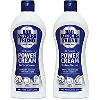 Bar Keepers Friend Universal Multi Surface Cleaner Stain Remover Power Cream (Pack of 2, 350ml)