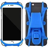 Fahrrad Handyhalterung Lumiereholic Fahrradhalterung Motorrad Halter Fahrradhalter Universal Radsport Anti-Shake Fahrrad-Lenker Handyhalter Sicherheitschutz für Smartphones und GPS Blau Y405-BLU
