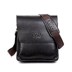Umhängetasche Klein Herren Schwarz Schultertasche Urlaub Schultasche Reise Herrentaschen Messenger Bag