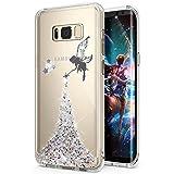 Kompatibel mit Galaxy S8 Hülle,Galaxy S8 Schutzhülle,Galaxy S8 Silikon Hülle Glänzend Glitzer Stern Engel Mädchen TPU Silikon Hülle Tasche Silikon Case Durchsichtig Schutzhülle für Galaxy S8,Silber