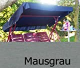Merino Europa Sonnendach, Schaukeldach, Ersatzdach Hollywoodschaukel, nach Maß passt überall verschiedene Farben (mit umnähten Kanten) (mausgrau)