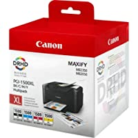 Canon PGI-1500XL Cartouche BK/C/M/Y Multipack Noir, Cyan, Magenta, Jaune XL (Multipack plastique)