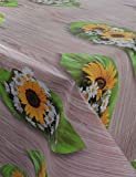 GearUp Wachstuch Tischdecke für Draußen und Drinnen - Wetterfest abwaschbar Pflegeleicht -in Verschiedenen Mustern im Landhaus Stil Farbe holztisch Größe Rund 140 cm