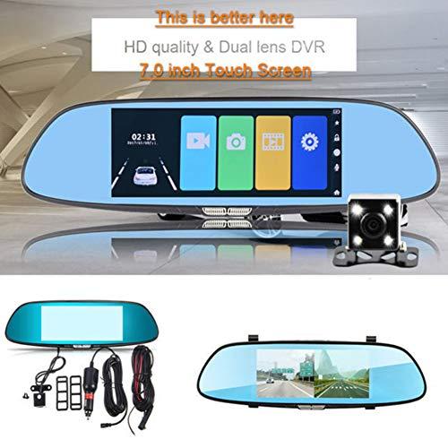 YSHtanj Auto-Rückfahrkamera DVR Auto DVR C700 Auto Fahrzeug 7 Zoll LCD Monitor Rückfahrkamera Rückfahrkamera Set -
