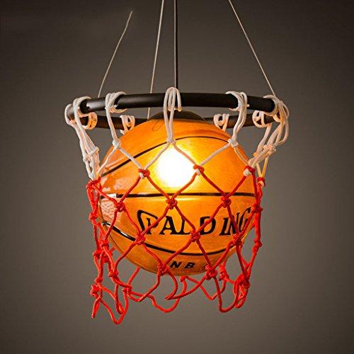 LINGDIANFA- retro kreative Persönlichkeit Restaurant Bar-Tabelle speichert Stadion Sport-Thema Art-Deco-Kronleuchter Basketball (Basketball-stadion)