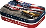 Nostalgic-Art - USA US Cars - Pillendose - 4x6x1,6cm