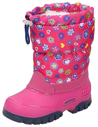 Spirale Maja Mädchen Winterstiefel, Schneestiefel für Kleinkinder, Kinder Schlupfstiefel, Canadian Boot, Warm gefüttert, Wasserabweisend Pink (Fuxia (084)), EU 21