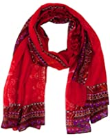 Desigual Red Denim - Foulard - Imprimé - Femme