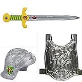 Ritter Vincelot 3er Kostüm-Set Helm 21612 & Schwert 21613 & Brustpanzer 12164