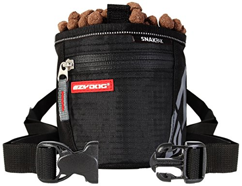 EzyDog Snak Pak Treat Bag - Leckerlitasche 650ml für Hundetraining mit Magnetverschluss - Farbe: schwarz