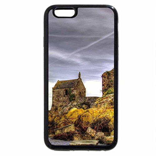 iPhone 6S / iPhone 6 Case (Black) old stone church on a rocky seashore hdr