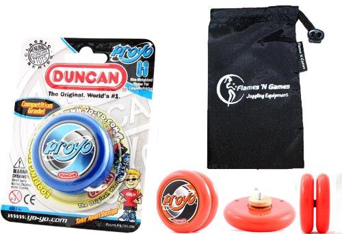 Duncan ProYo YoYo (Blau) Ideal Yo Yo für Anfänger + Stoff Reisetasche! Große YoYo für Kinder und Erwachsene! (Yo Duncan Yo Proyo)