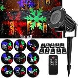 FOCHEA Proiettore Luci Natalizie Esterno & Interno [Nuova Versione] IP65 Faretti LED Illuminazione...