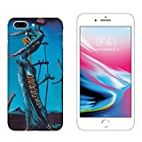 Hülle iPhone 8 Plus Case Apple iPhone 8 Plus Salvador Dali DIE Giraffe IN Flammen/Cover Druck auch an den Seiten/Anti-Rutsch Anti-Rutsch Anti-Scratch Schock-resistenten Schutz Schutzulle Starre