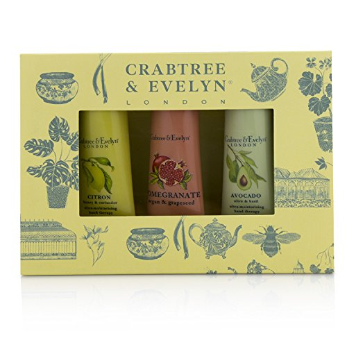 Crabtree & Evelyn - Botanicals Hand Therapy Set (1x Citron Honey & Coriander 1x Pomegranate Argan & Grapeseed 1x Avocado Olive & Basil) 3x25g/0.9oz - Evelyn Citron Honey