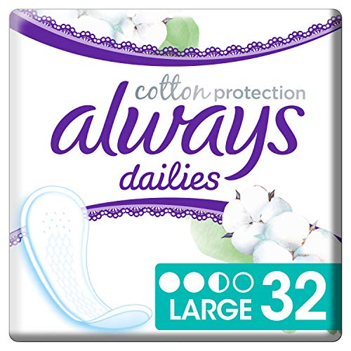 Always Cotton Protection Large 32 Slipeinlagen