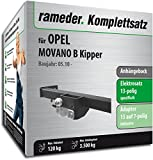 Rameder Komplettsatz, Anhängebock mit 2-Loch-Flanschkugel + 13pol Elektrik für Opel MOVANO B Kipper (118982-38516-1)