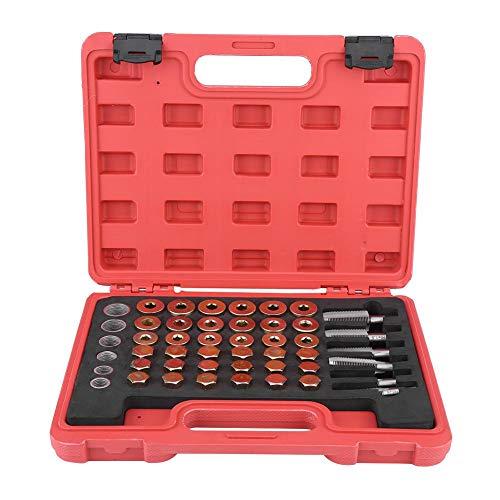 GOTOTOP 114Pcs Kit di Riparazione Filettatura Olio, Kit Cassetta di Scarico del Cambio Vasca M13 M15 M17 M20 M22